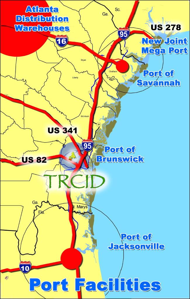 Turtle River CID - Us east coast ports map